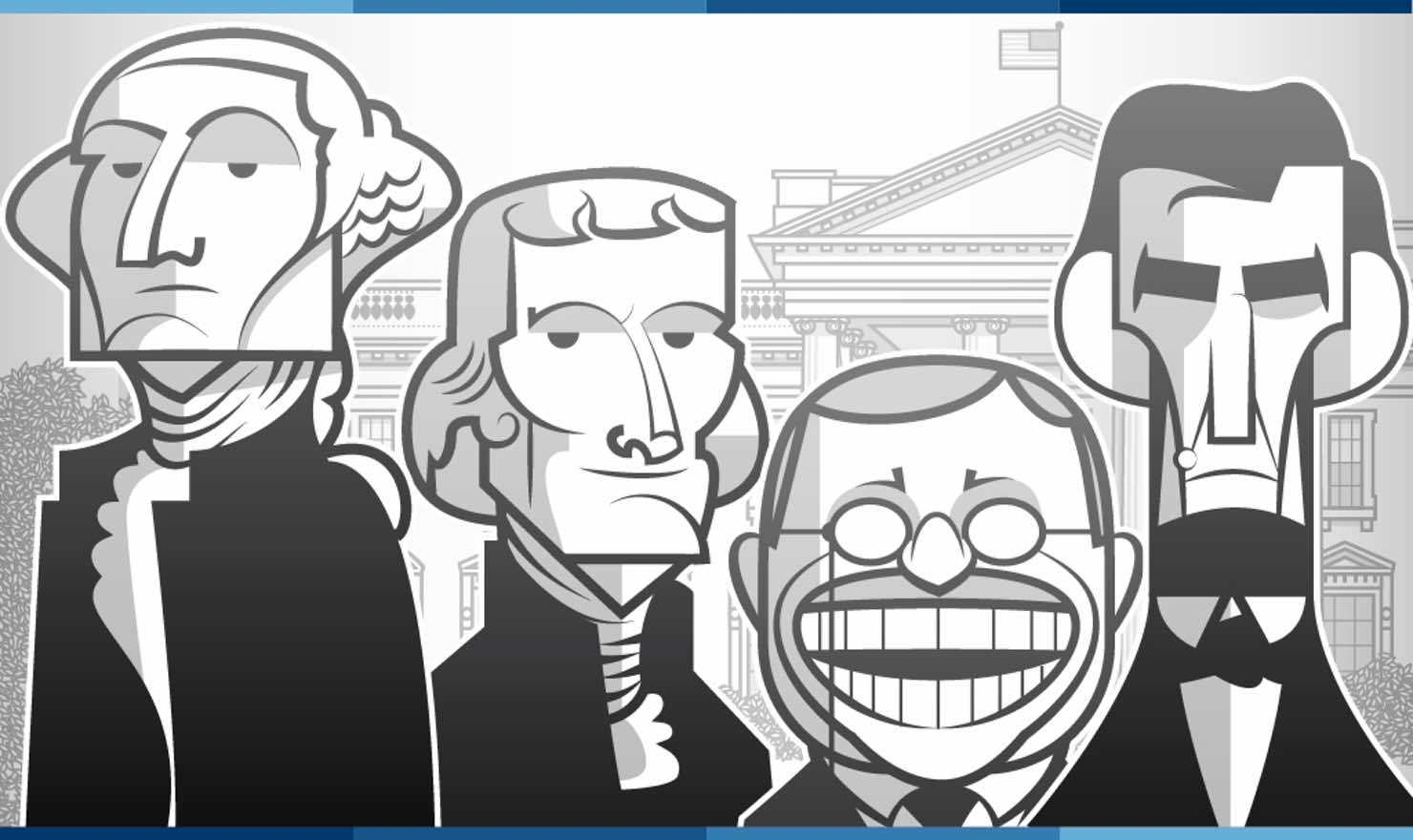 two party A comic about presidents and other star-spangled banter.