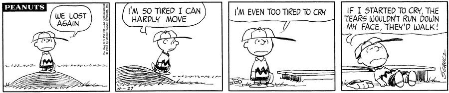 Image result for peanuts baseball comic strip
