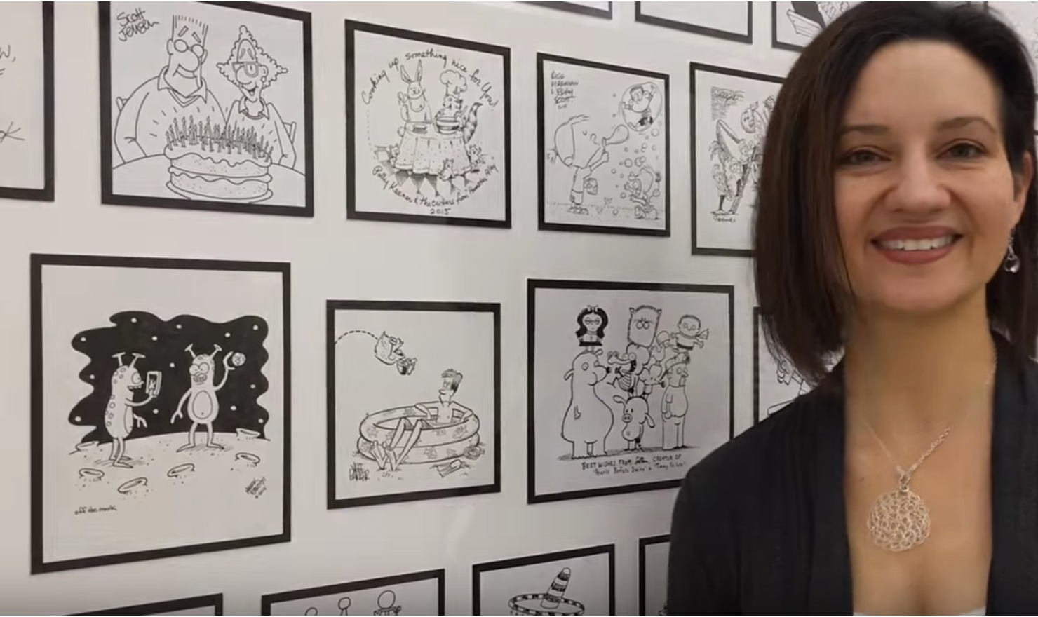 Cartoonists Gift Massive Original Art Collage to Cleveland Hospital
