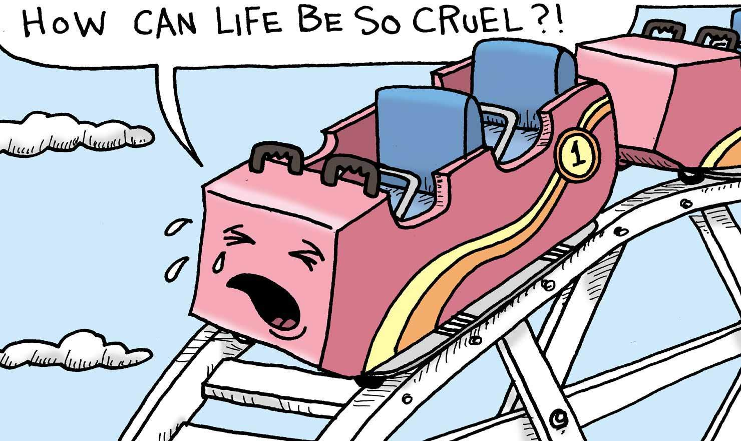 Emotional Comics For Roller Coaster Day