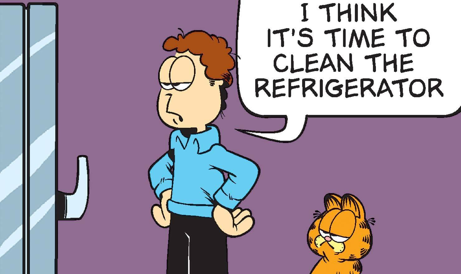 14 'Garfield' Comics Reminding You To Clean Out Your Refrigerator