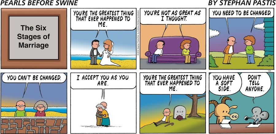 The Print of a Recent 'Pearls Before Swine' Comic on Marriage is Flying Off the Shelves