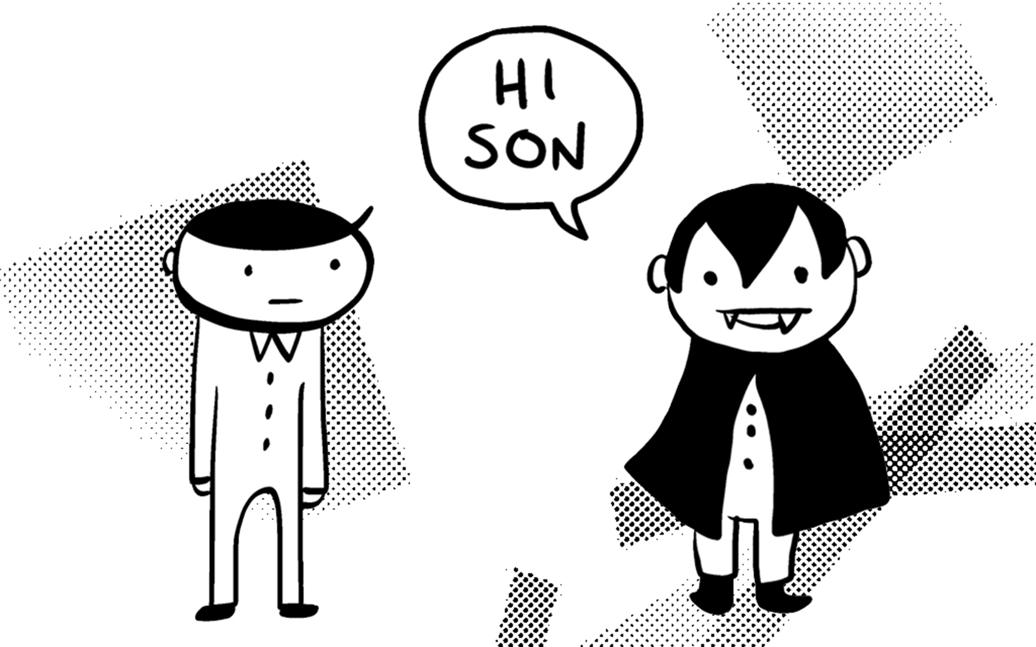New Comic Alert: 'My Dad is Dracula' by Jason Poland