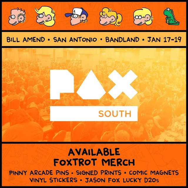 Foxtrot's Bill Amend Appearing at PAX South