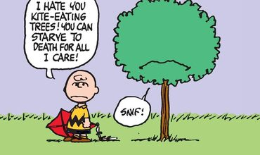 Peanuts Charlie Brown Kite Eating Tree Comics