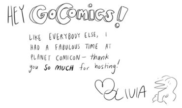 GoComics Olivia Walch Planet Comicon Thank You Comic
