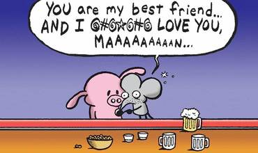 National Best Friends Day Comics