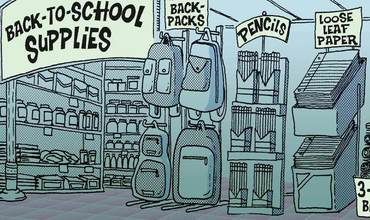 back to school supplies comics