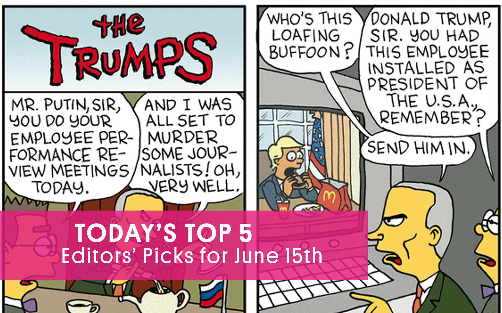 A Simpsons - Trump - Putin Mashup That May Leave You Feeling Burns-ed | GoComics.com