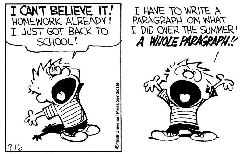 Back to School for Calvin and Hobbes