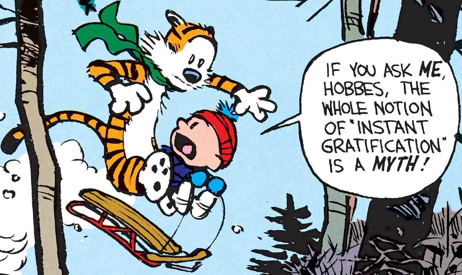 Sled Ahead: Calvin And Hobbes Shred The Slopes With Style