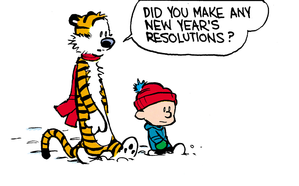 Calvin and Hobbes: New Year's Resolutions