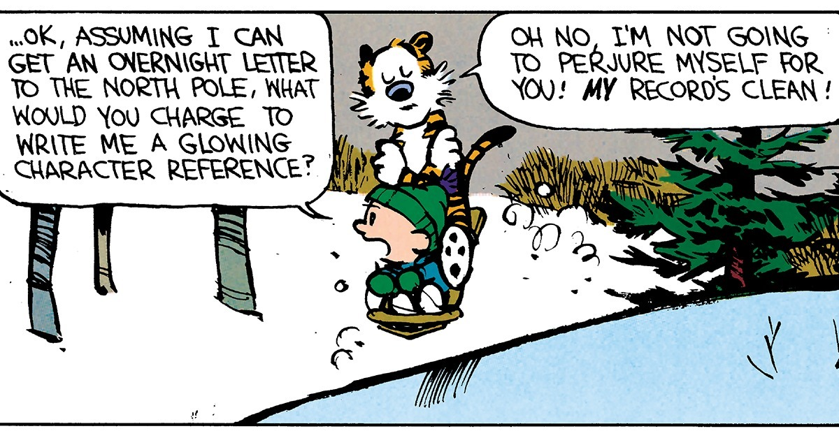 25 Calvin and Hobbes Comics to Get You to Christmastime!