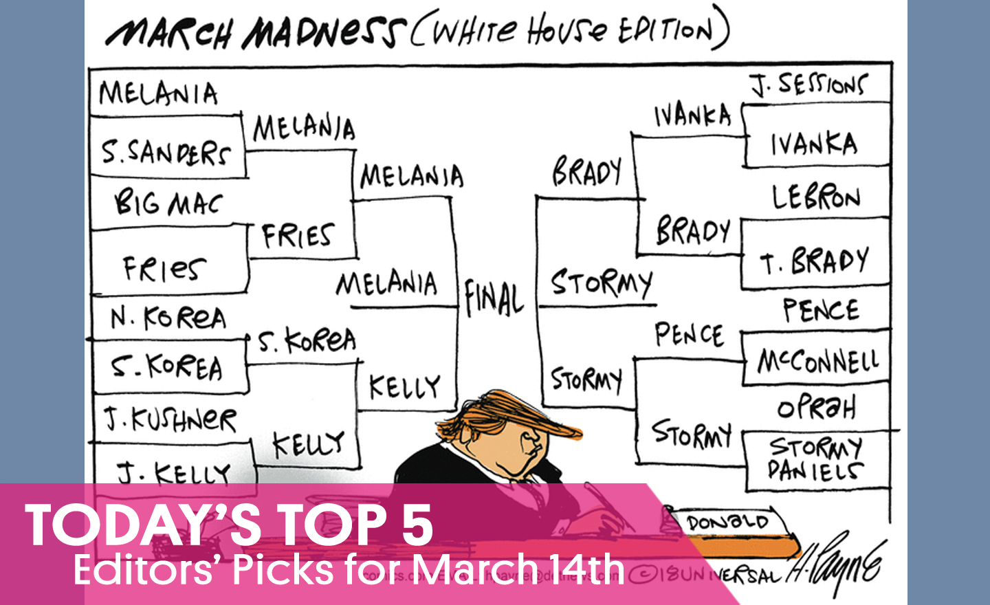 March Madness Trumpetology: The White House (B)racket