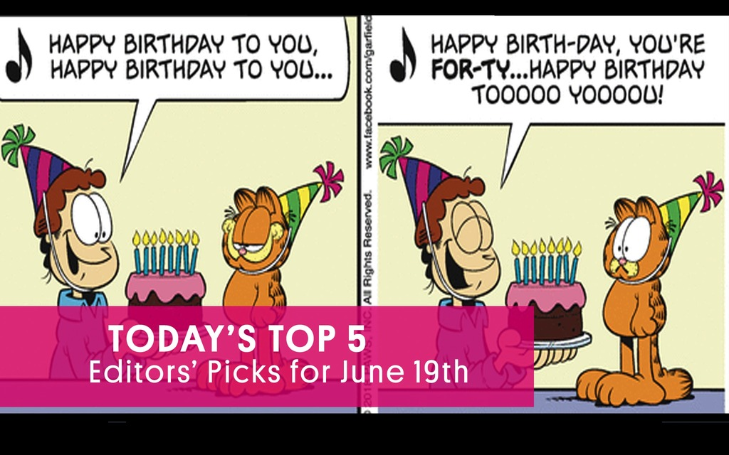 Leapin' Lasagna! Garfield is Forty! Happy Birthday to the Greatest Orange Beast Ever