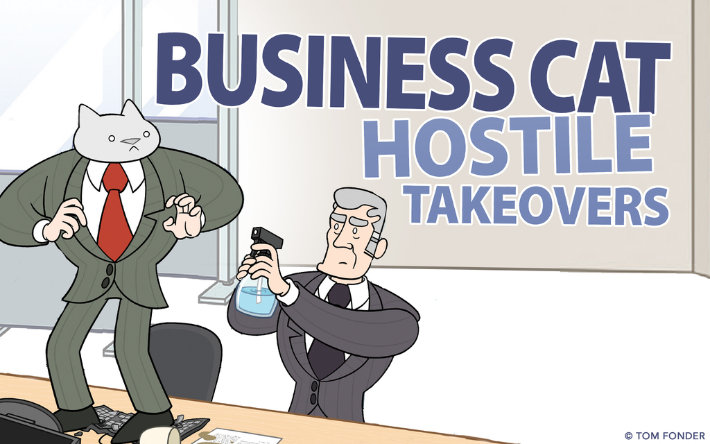 7 Comics From The Upcoming 'Business Cat: Hostile Takeovers' Book
