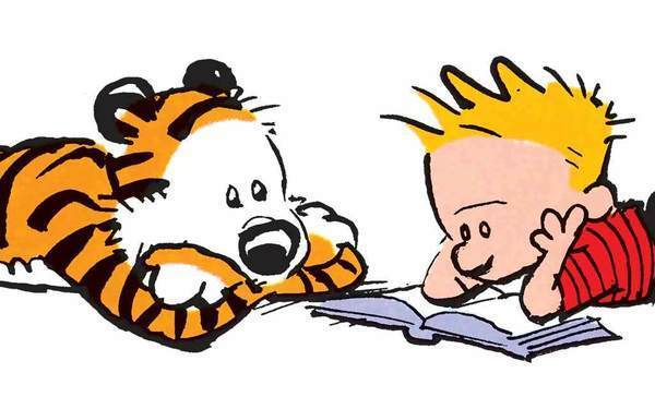 Calvin and Hobbes Hit the Diamond