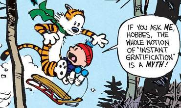 Calvin and Hobbes sled comics