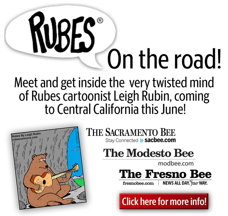 Rubes on the Road! SacBee event!