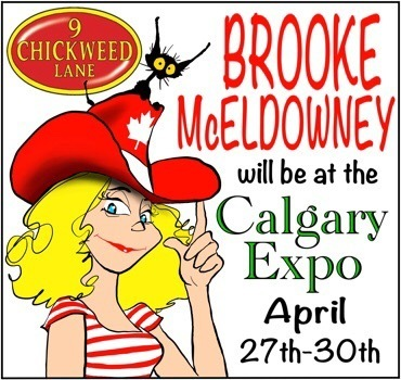 Pibgorn and 9 chickweed lane creator at Calgary Expo