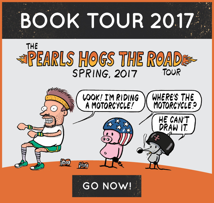 Pearls Hogs the Road Book Tour Info Mobile Friendly Image