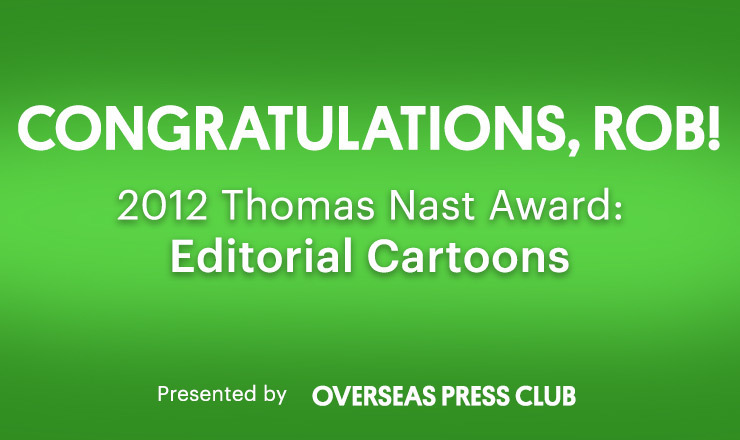 2012 Thomas Nast Award: Editorial Cartoons