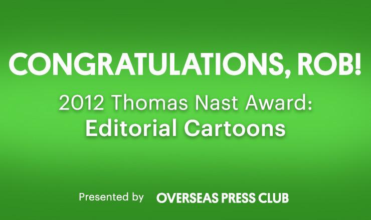 2012 Thomas Nast Award: Editorial Cartoons