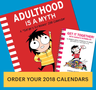 "Sarah's Scribbles ""Aulthood is a Myth"" 2018 Calendar"
