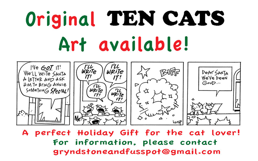 Original Ten Cats Art Available!