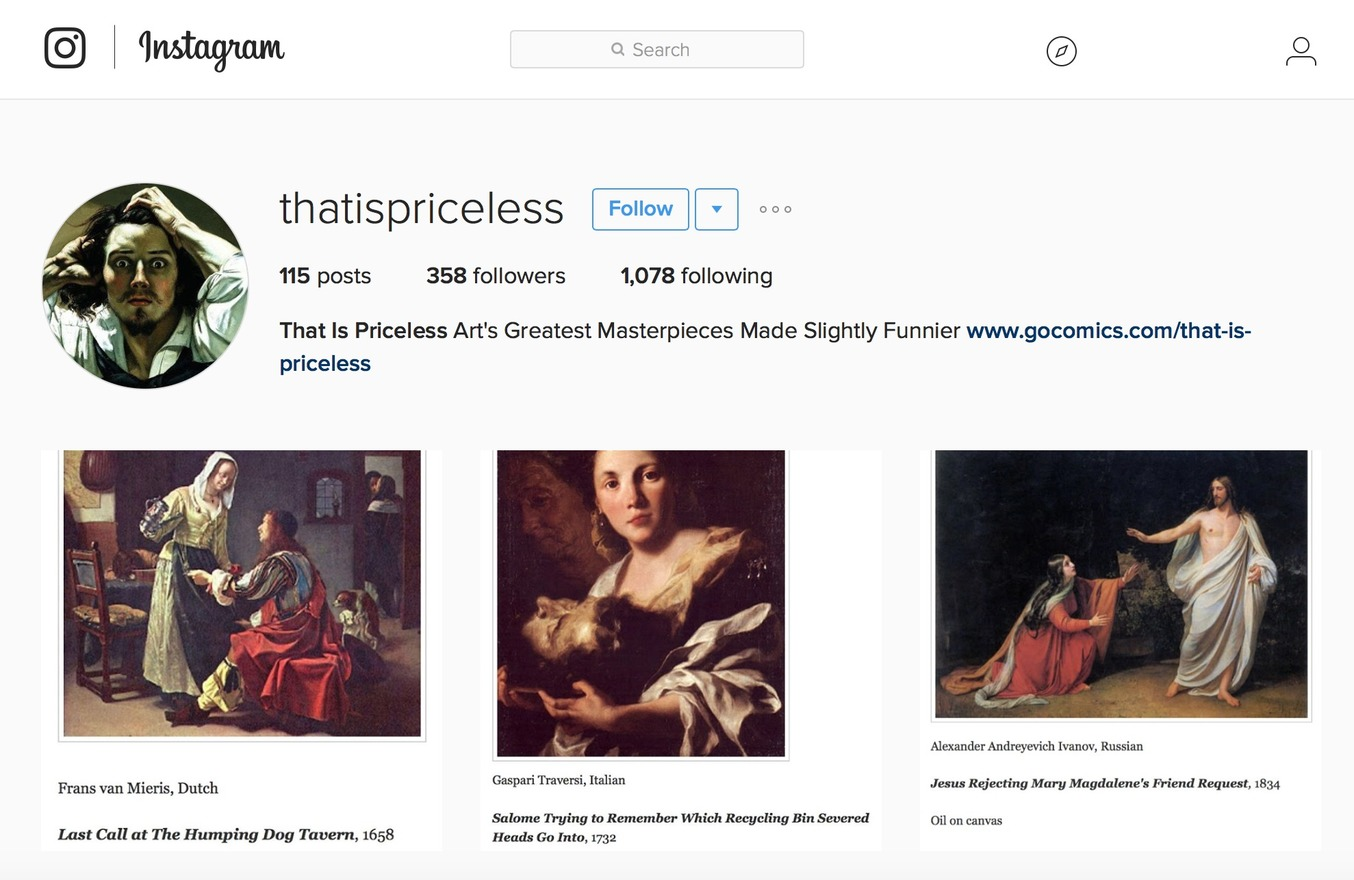 Follow That Is Priceless on Instagram!