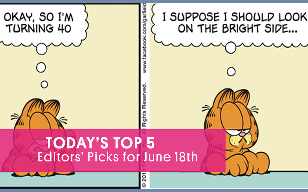 On the Eve of His 40th Birthday, Garfield Reflects