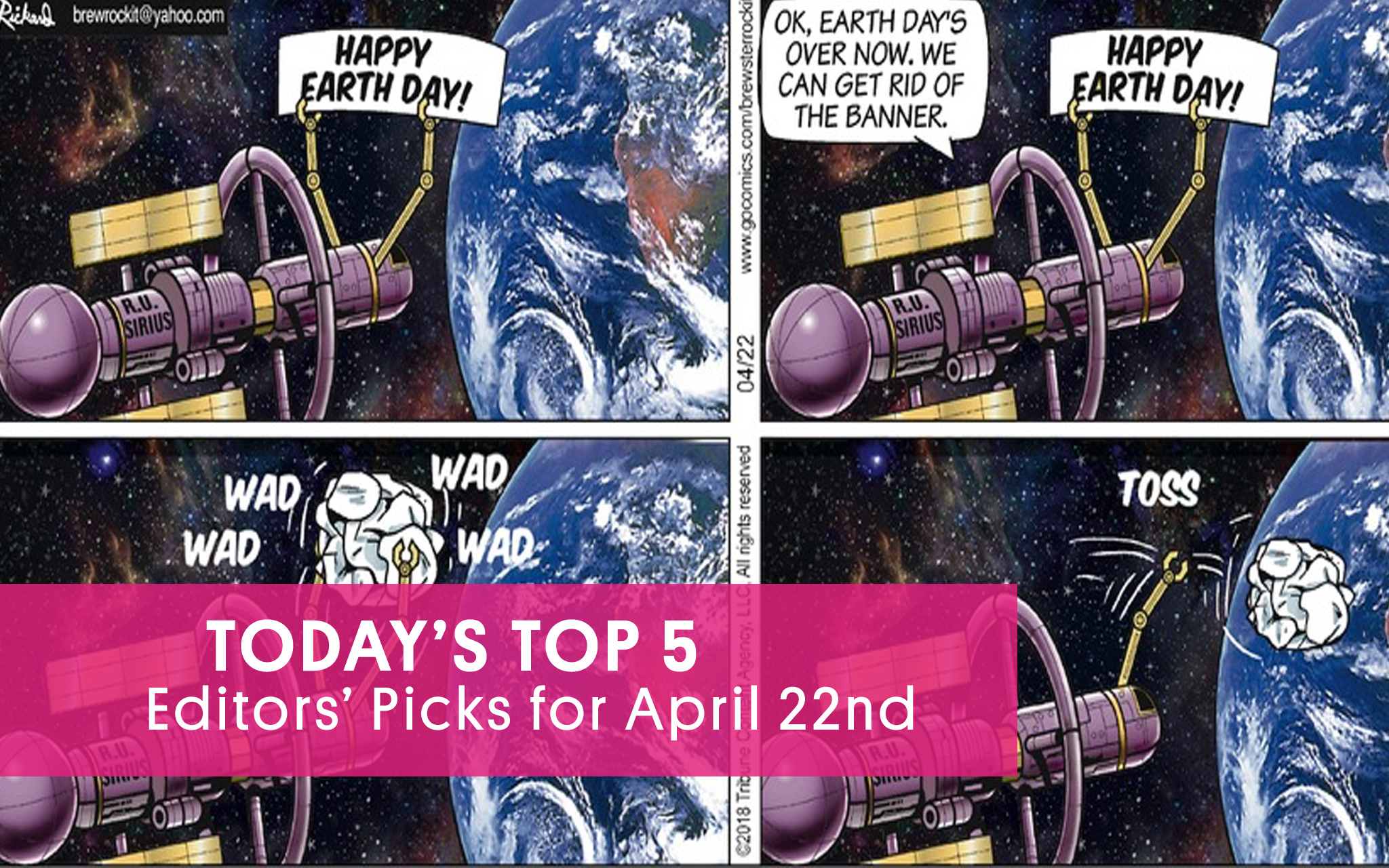 If You're Skipper of a Space Station on Earth Day Avoid This Common Error